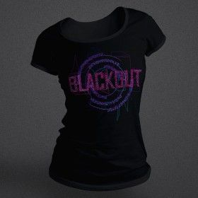 Blackout - Glitch - Purple - Female - Shirt