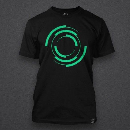 Blackout - Logo - GREEN - Male Shirt