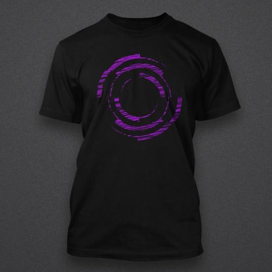 Blackout - Logo - Sketch - Purple - Shirt