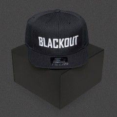 Blackout - Text - White - Starter Snapback Cap
