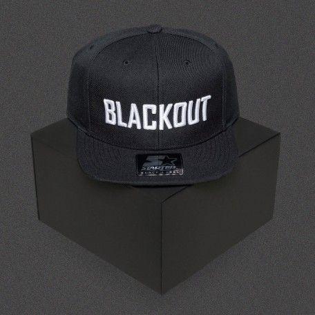 Blackout - Text - White - Starter Snapback Cap